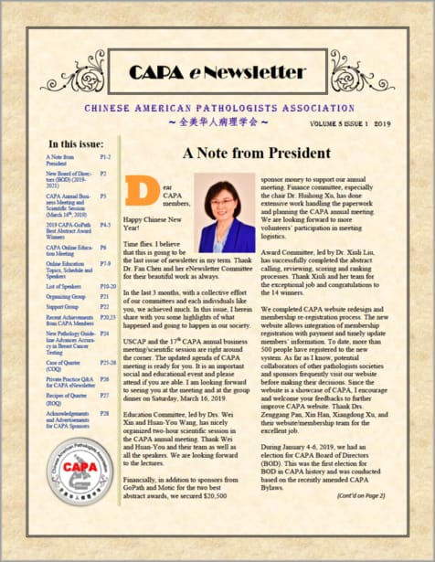 CAPA Newsletter 2019 Spring